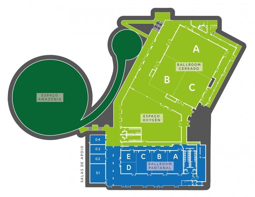 Planta Baixa - Novo Centro de Convenções Malai Manso Resort