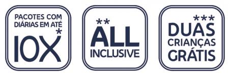Selos Bloco - 10x - All Inclusive - Crianças Grátis